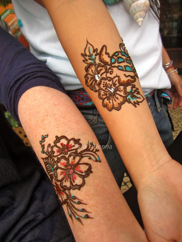 Colored Henna Tattoo: 33 Best Bright Henna Tattoos Images On Pinterest