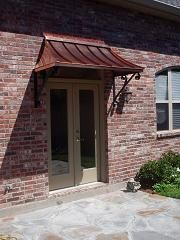 Copper Awnings For Doors | ... COPPER AWNINGS   Copper Awning   Metal Awning