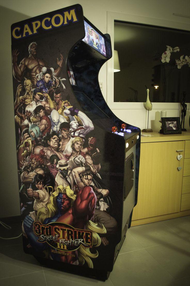 My Street Fighter III - 3rd Strike #Arcade Cabinet My gamer dream becomes reality...YATA !! #DIY #Homemade #retrogaming
