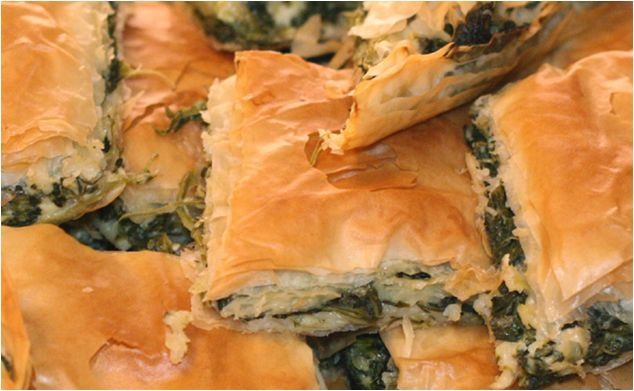 Fresh and handmade spanakopita / spinach & feta pie prepared upon order and delivered across UK. FRESH CORNER. http://agoragreekdelicacies.co.uk/fresh-corner