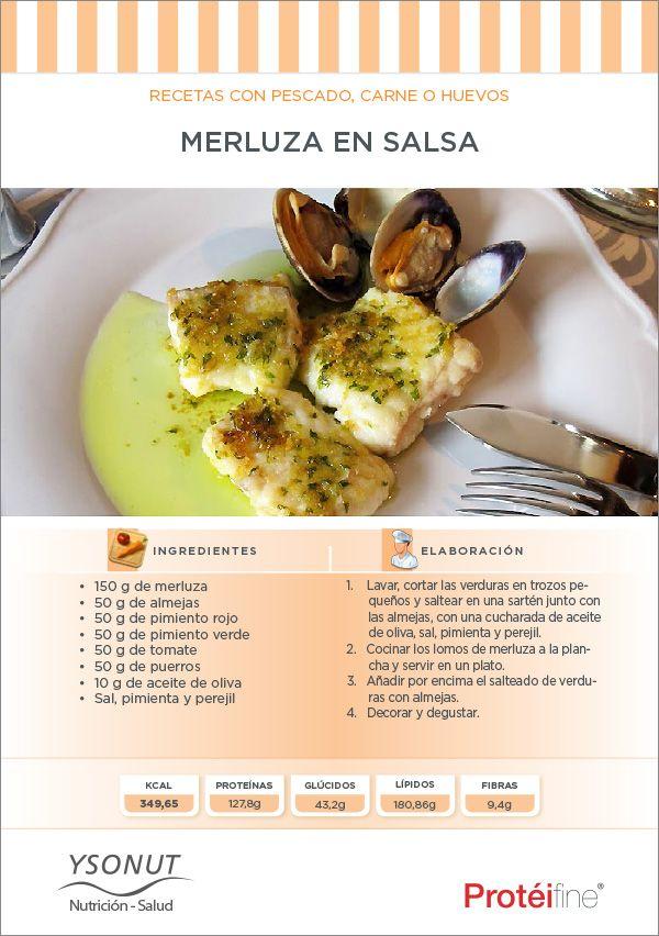 #Recetas #dieta - Un plato de merluza ligero, sano y sabroso que se hace muy rápido. ¡Hoy toca disfrutar cuidándose!