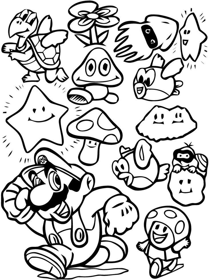 26 Dessins De Coloriage Mario Bros A Imprimer Super Mario Coloring Pages Mario Coloring Pages Coloring Books