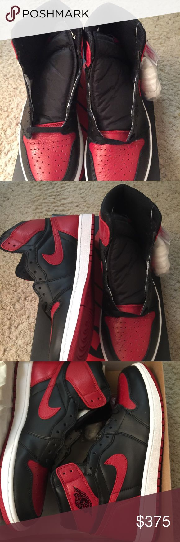 Jordan Chicago 1 red and black size 11 dead stock Jordan Chicago 1 red and black size 11 dead stock Jordan Shoes Athletic Shoes
