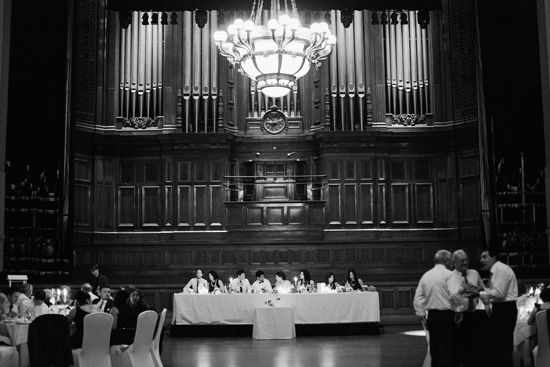 Beautiful and grand Melbourne Town Hall. Sarah and Cyrus' Wedding Reception. Elegant.