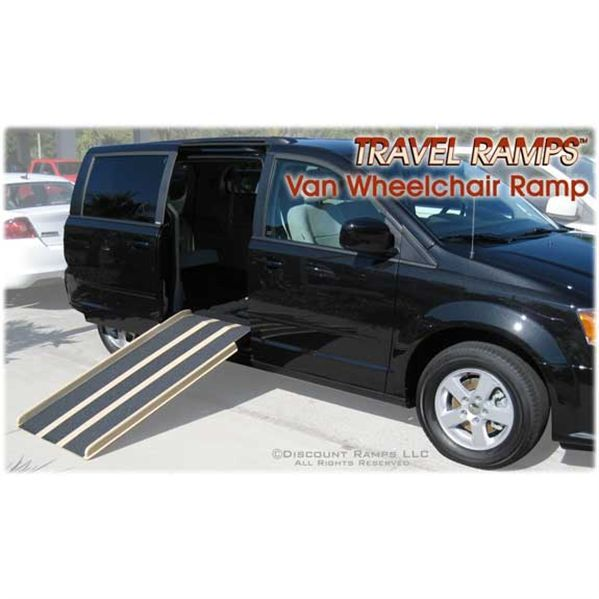 The Van Wheelchair Ramp From Travel Ramps Has A