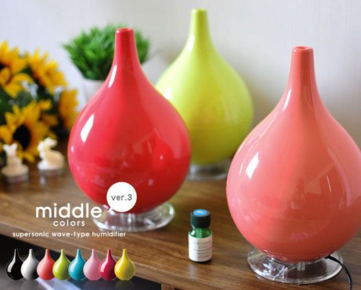 The Middle Color Humidifier has been featured in Oprah and InStyle gift guides.  It's a cheerful addition to anyone's home.