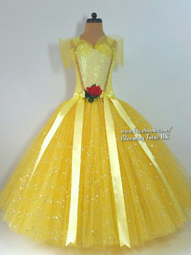 Stunning Belle Beauty and the Beast inspired tutu dress - www.facebook.com/BloomingTutusUK