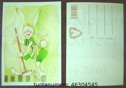 Minna Immonen bunny card / Minna Immosen pupukortti