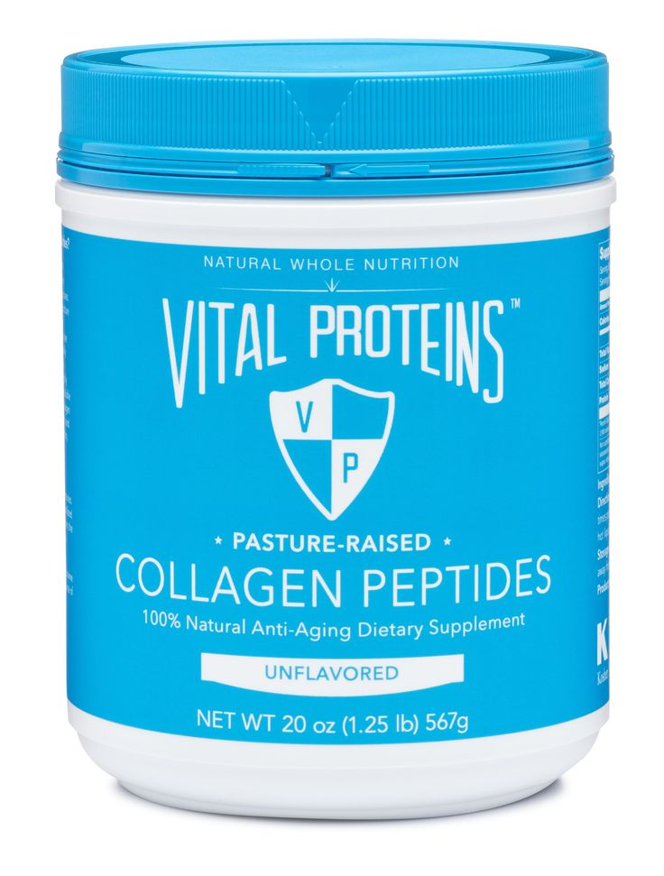 How, when and why we should take collagen. Collagen is what holds us together! It's found in skin, ligaments, cartilage, tendons, muscles, bone tissue, blood vessels, intervertebral discs, gastrointestinal tract, and even in the cornea of the eye.|  Vital Proteins Pasture-Raised Collagen Peptides, All Natural Anti-Aging Drink Powder Dietary Supplement
