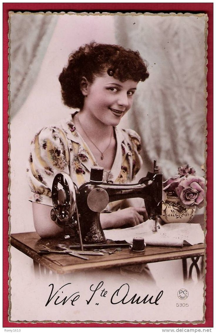 17 best images about vintage sewing postcard on pinterest machine a language and postcards. Black Bedroom Furniture Sets. Home Design Ideas