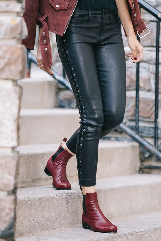 Here are our Poppy Barley all-leather, custom fit, women's Chelsea Boot in Marsala red. Made-to-Measure in sizes 5-12 and made to fit narrow, standard or wide feet | PB Fall15 Lookbook