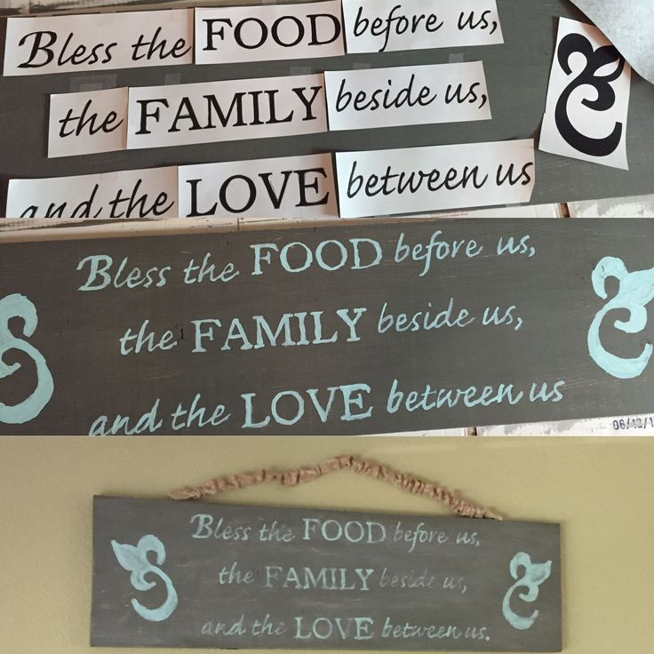Farmhouse sign done using a laser printer & carbon paper.