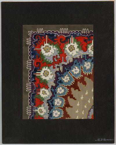 Tapijtontwerp | Renssen, M.D. (1883-1971)