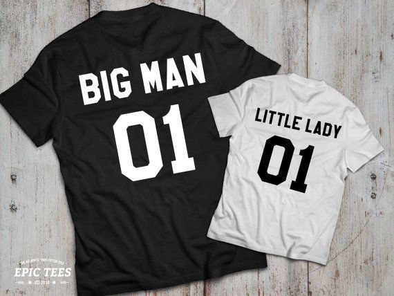 Big man little lady father daughter matching by EpicTees4You