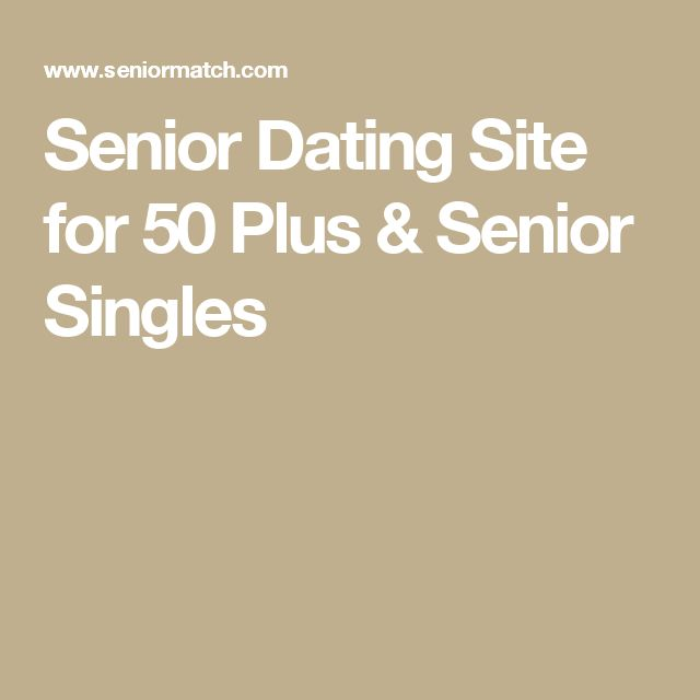 Dating services for people over 50