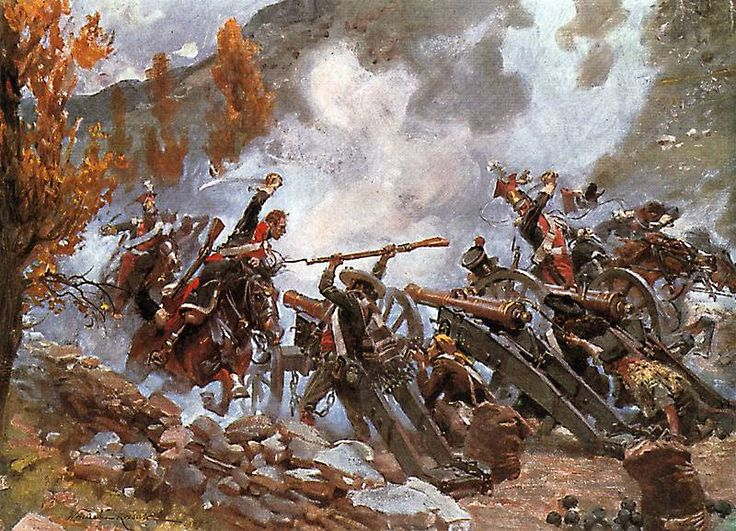 Battle of Somosierra. A few hundred polish cavalry without support charged the Spanish guns and caused 8000 Spaniards to retreat.