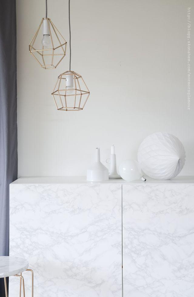 Gör en lampskärm av sugrör | DIY Mormorsglamour
