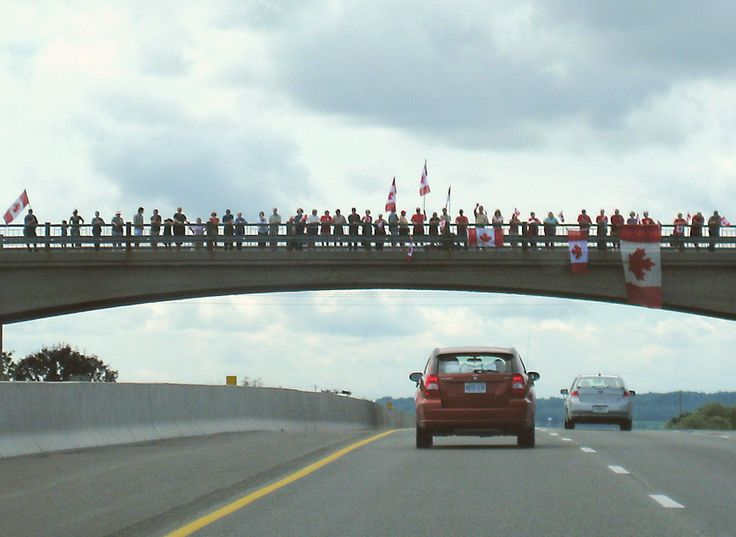 Canadians...on the Highway of Heroes