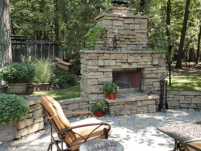 Best Fireplace Images On Pinterest Backyard Fireplace - Fire and patio place