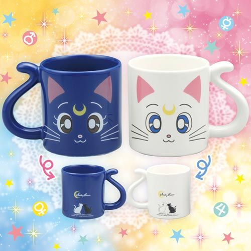 Sailor Moon Luna & Artemis Mugs to be released in March 2014  Pre-Order open on AmiAmi http://www.amiami.com/top/detail/detail?gcode=CGD2-76989 $23