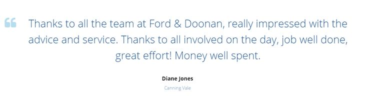 We love hearing about your experiences with us - jump online and fill out our Customer Satisfaction Survey Today! https://fordanddoonan.com.au/customer-satisfaction-survey/