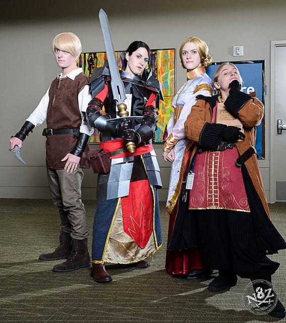 Coles, Evangeline (https://twitter.com/hemiart), Anora, and Varric (http://virusq.tumblr.com), photo by N8Zim, via Flickr