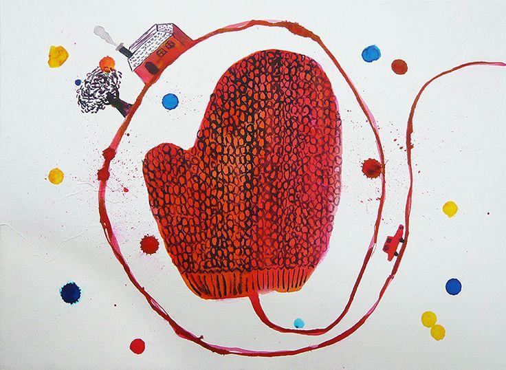 毛糸の手袋2