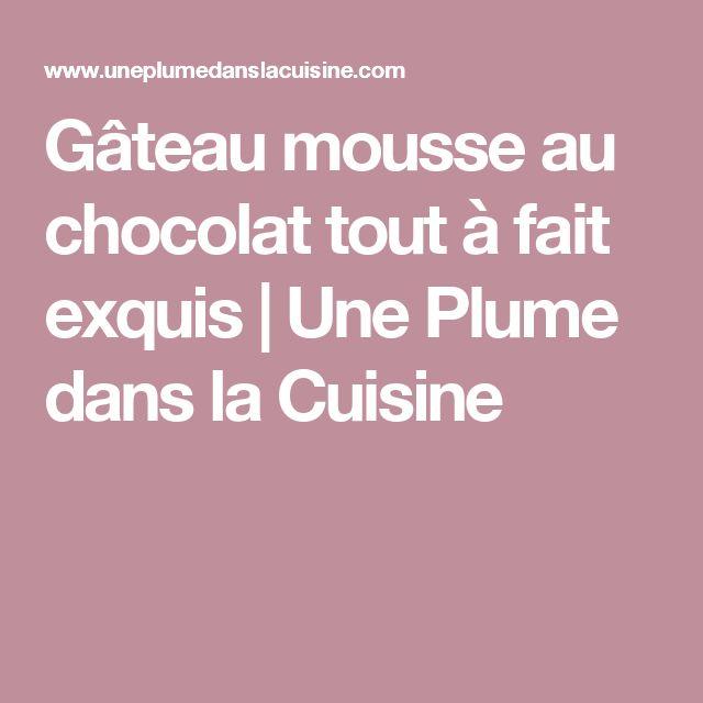 Gâteau mousse au chocolat tout à fait exquis   Une Plume dans la Cuisine