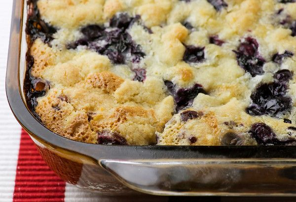Blueberry Cobler- Making this a bit healthier (it takes 3 sticks of butter!) is something id look into