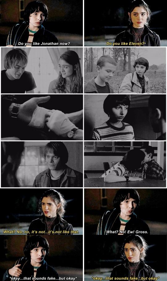 TheWheelerKidsinDenial #Stranger Things  #1X07 Nancy & Jonathan and Mike & Eleven