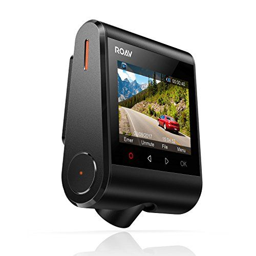 """Anker Roav DashCam, Dashboard Camera Recorder with Sony Exmor Sensor, 2.4"""" LCD, 1080P FHD, Nighthawk Vision, 4-Lane Wide-Angle View Lens, Built-In WiFi, G-Sensor, WDR, Loop Recording, and Night Mode 