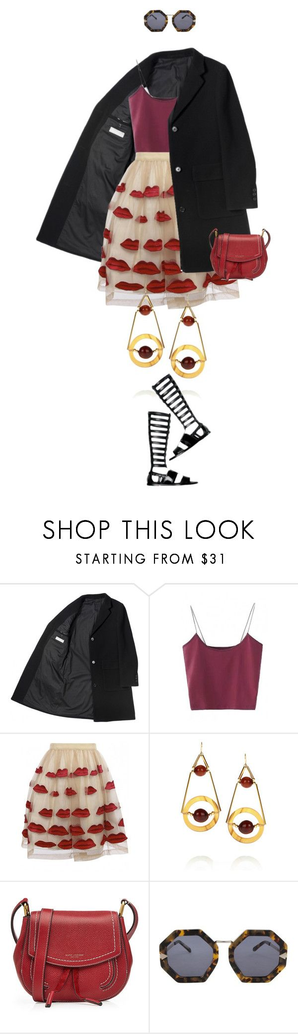 """""""eva1619"""" by evava-c on Polyvore featuring Alice + Olivia, Marni, Marc Jacobs and Karen Walker"""
