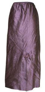 Lee Andersen Prune Silk Dupioni Vamp Skirt
