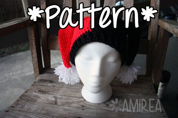 Hey, I found this really awesome Etsy listing at https://www.etsy.com/listing/106152702/instant-download-harley-quinn-beanie-hat