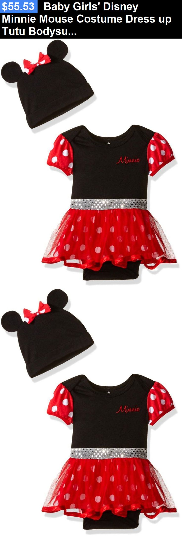 Kids Costumes: Baby Girls Disney Minnie Mouse Costume Dress Up Tutu Bodysuit And Cap, Red, 3-6 BUY IT NOW ONLY: $55.53