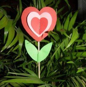 Valentínsky srdiečkový kvietok - Aktivity pre deti, pracovné listy, online testy a iné