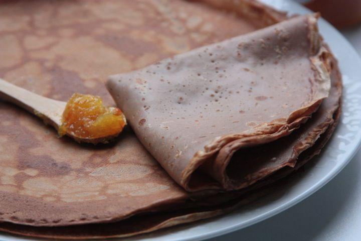 Pâte à crêpes chocolatée