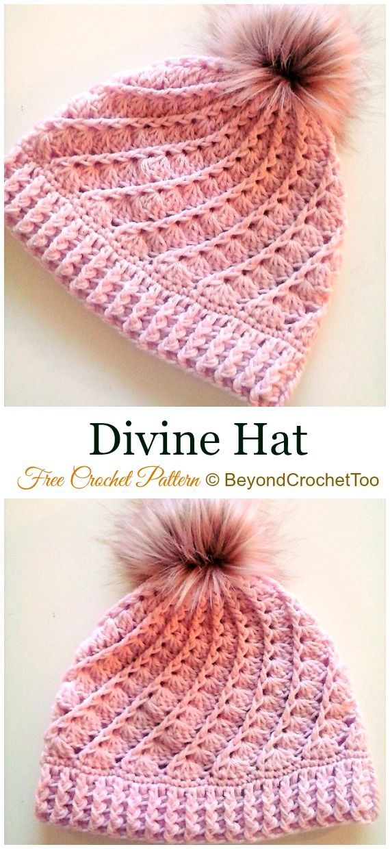 DIY Crochet Beanie Hat Free Patterns Baby Winter Hat  ecef9734fec