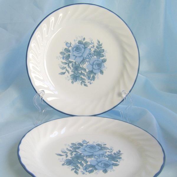 Blue Glass Salad Plates