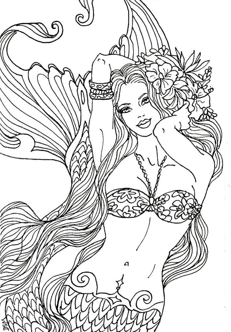 mermaid fantasy myth mythical mystical legend siren whimsy whimsical mother child baby art coloring pages colouring adult detailed advanced printable