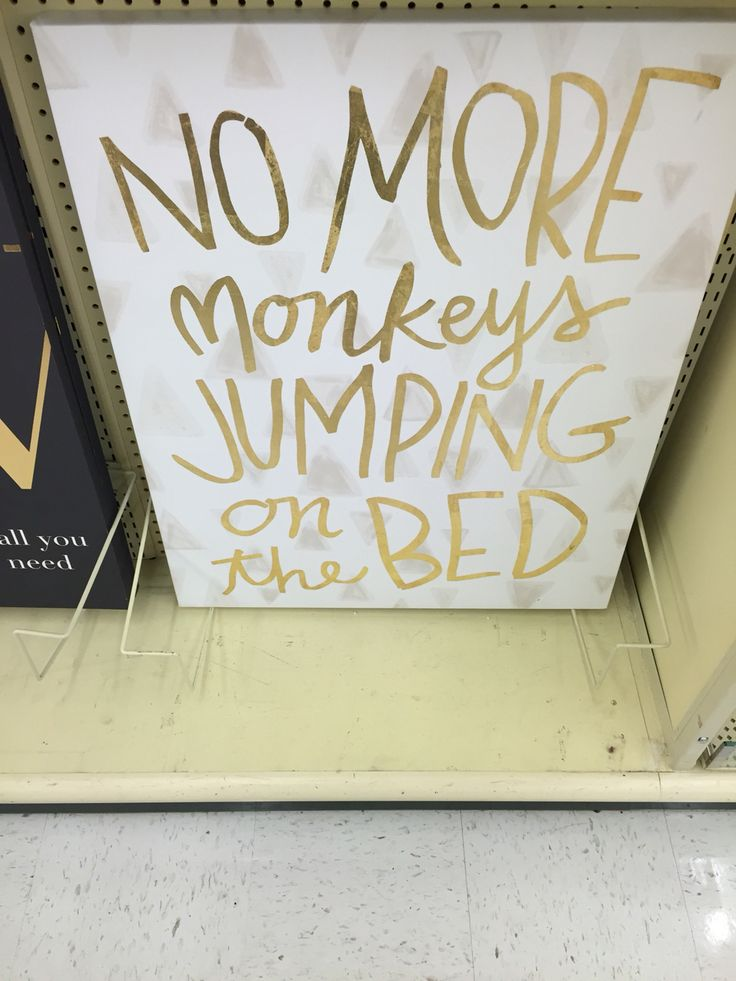 No more monkeys jumping on the bed! Love for a child's room!