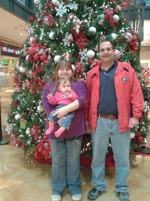 Me, Elisha and Cousin Abby Mills at the Stonecrest Mall Dec18,2013
