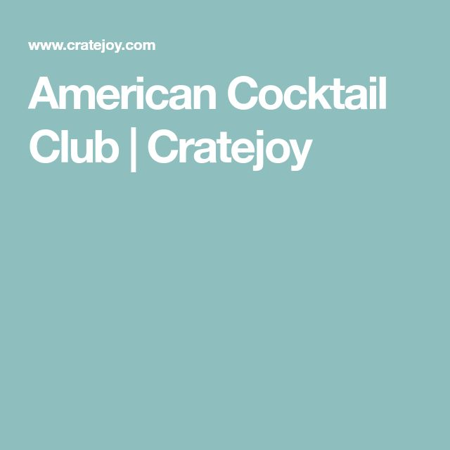 American Cocktail Club | Cratejoy
