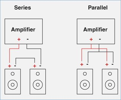 How to properly connect 3 speakers in parallel series