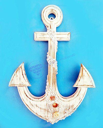 "Nautical 18"" Premium Pine Wood Anchor With Real Sea Shell... http://www.amazon.com/dp/B01FK4UL54/ref=cm_sw_r_pi_dp_LVEoxb0WM7RAQ"