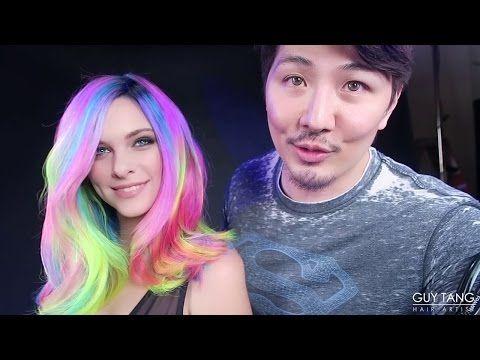 Гай Танг не перестает удивлять! Смотрим его новую работу: неоновые волосы!