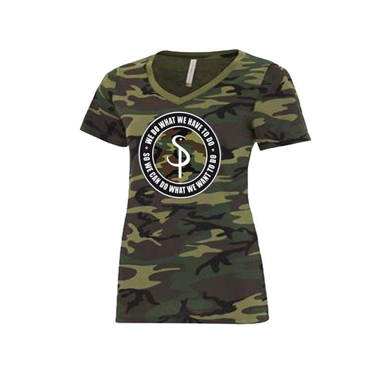 Ladies Camo Tshirt