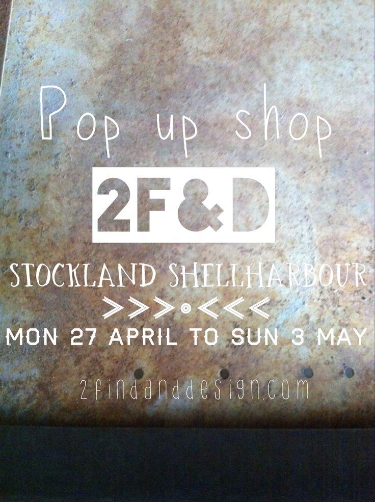 | pop up store - Stockland Shellharbour |  www.2findanddesign.com @2findanddesign