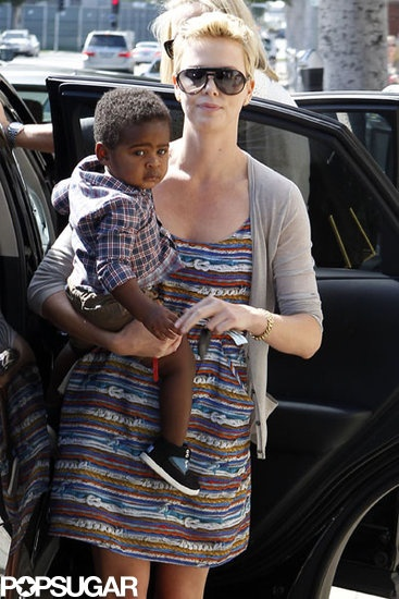 Mommy and Me: Charlize Theron and Jackson stepped out in LA together on Saturday. #picsoftheday