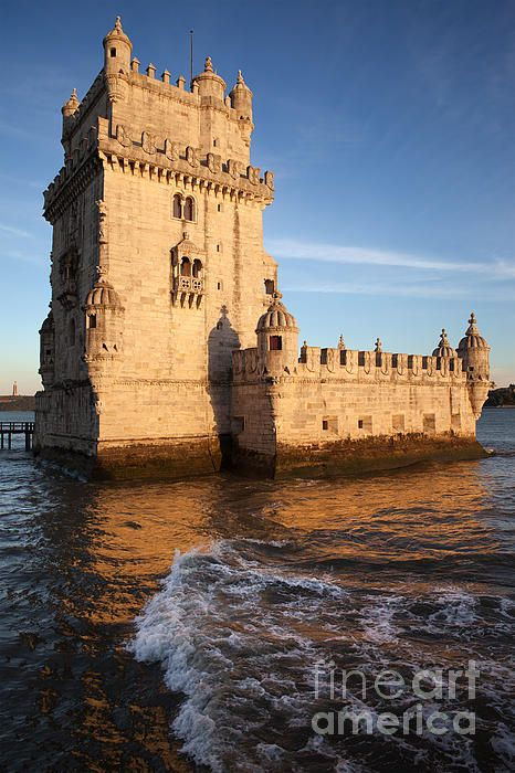 Belem Tower on the Tagus river at sunset in Lisbon, Portugal. #lisbon #belemtower #lisboa #belem #tower #foritfication #sunset #europe #river #historic #historical #building #landmark #monument #placetovisit #places #artprint #fineartprints #architecture #architecturelovers #architecturephotography #portugal #portuguese #famous #historicalplace #fortress